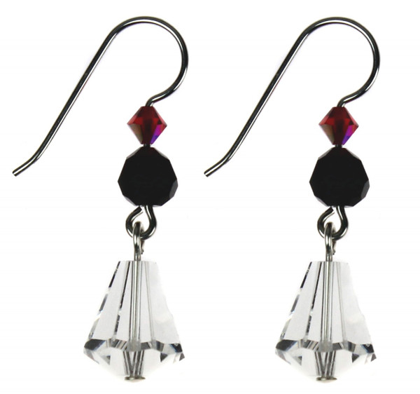 These Swarovski crystal earrings add a dab of color while providing simple elegance for any occasion.