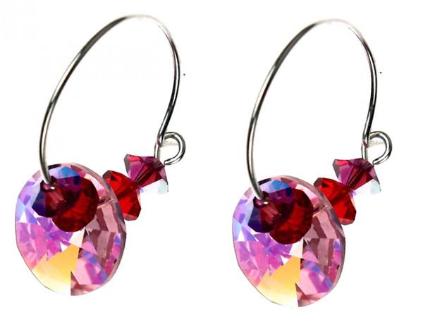 Swarovski crystal hoop earrings Amore Collection