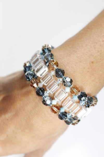 A beautiful wearable piece of art.... Swarovski crystal cuff bracelet by Karen Curtis NYC