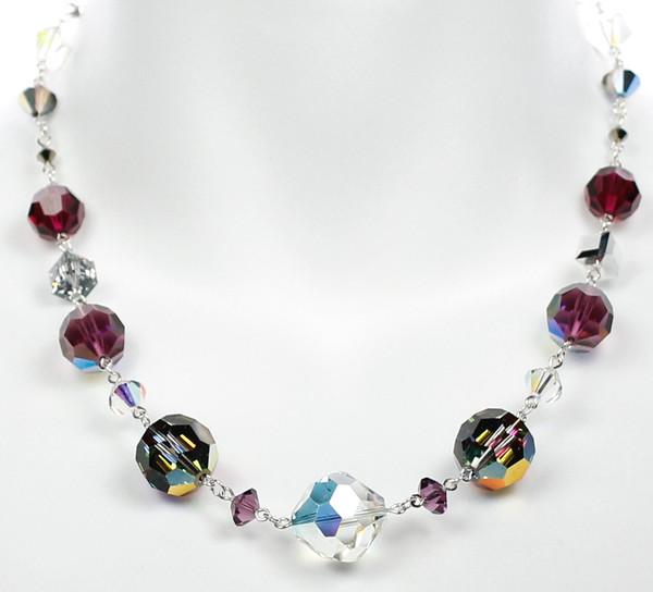 Single Strand Crystal Necklace by Karen Curtis
