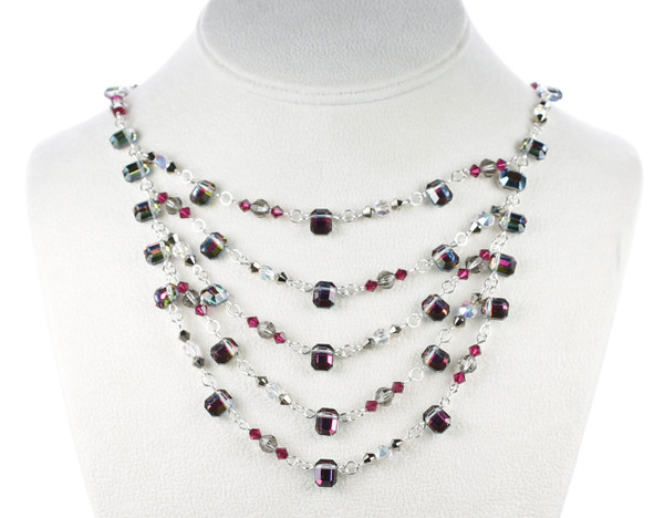 Layer necklace by Karen Curtis