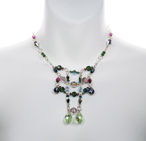 Handmade designer crystal necklace by Karen Curtis NYC