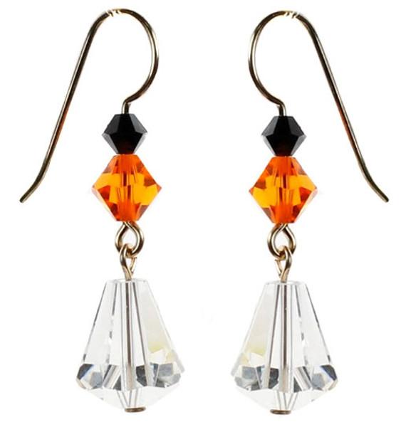 Swarovski crystal halloween earrings by Karen Curtis NYC