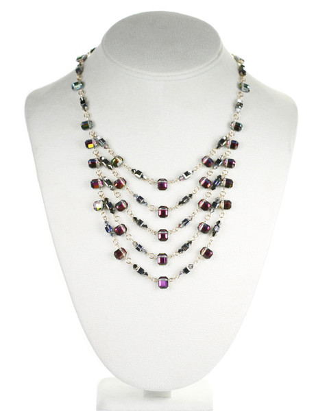 Sophisticated Crystal necklace made with Swarovski crystal by The Karen Curtis Jewelry Company in NYC