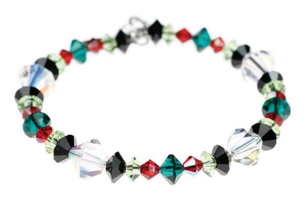 Swarovski Crystal Christmas Bracelet by Karen Curtis