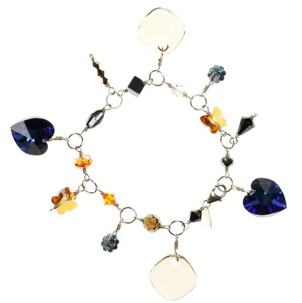 Leading Jewelry Designer creates rare Charm Bracelet with vintage Swarovski Crystal