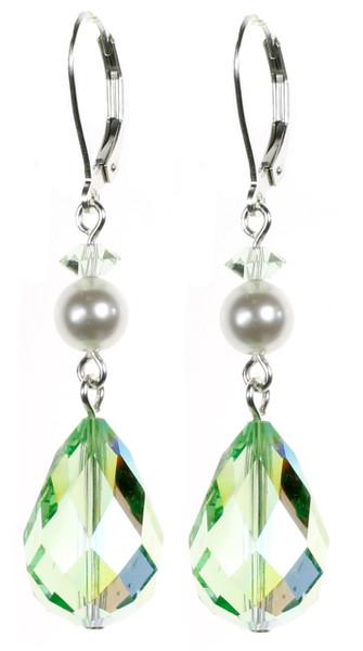 Gorgeous Peridot Green August Birthstone Earrings by Karen Curtis NYC