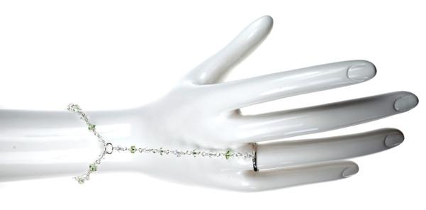 Green Peridot Finger Chain Bracelet