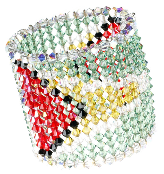 Guyana Bracelet with entire pattern made of Crystals from Swarovski