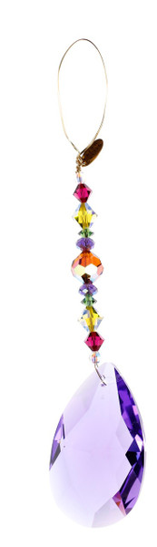 Purple Pear Pendant Ornament / Sun Catcher