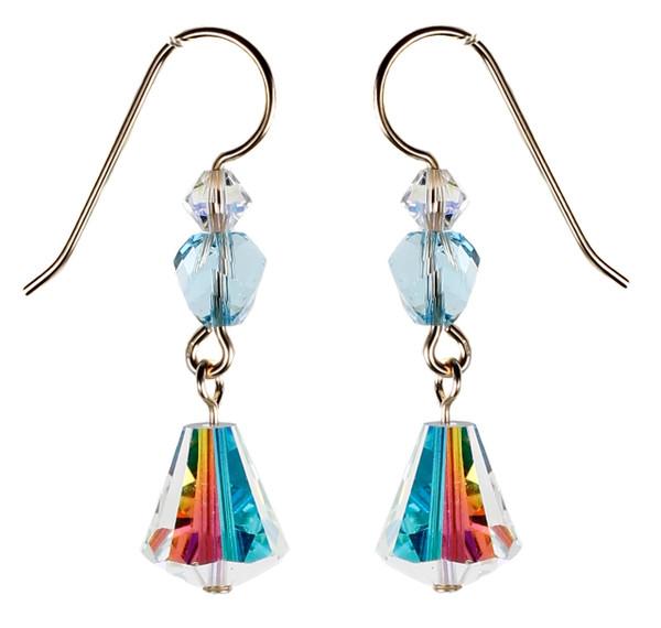 Vintage Clear Crystal Earring - March Birthstone