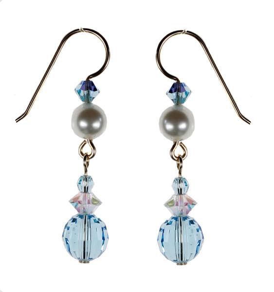 Rare Aquamarine Earrings - March Birthstone