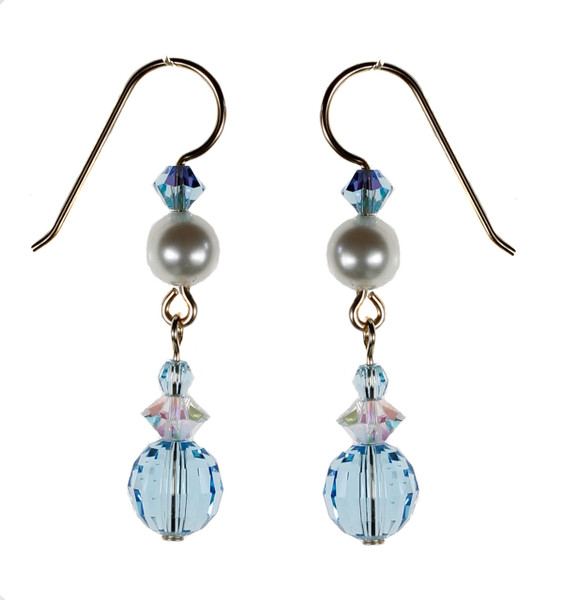 Rare Aquamarine Earrings - March Birthstone