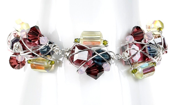 Crystal Cluster Bracelet - Botanical Jewelry