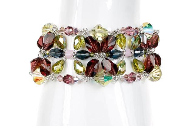 Giant Medallion Cuff Bracelet - Botanical Jewelry
