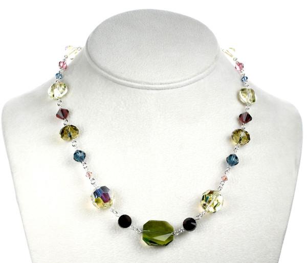 Chunky Single Strand Crystal Necklace - Botanical