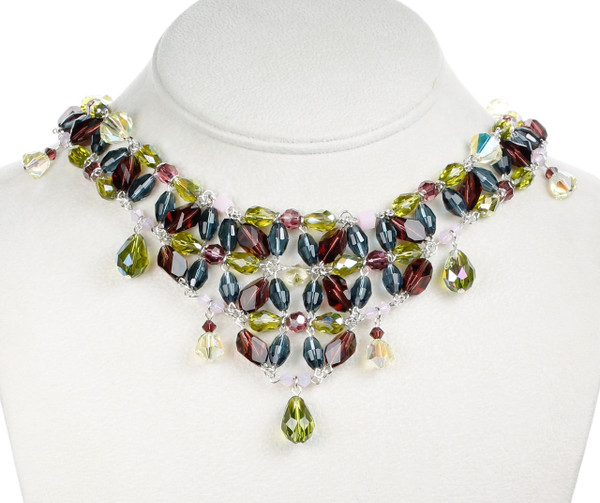 Full Size Crystal V Necklace - Botanical Jewelry