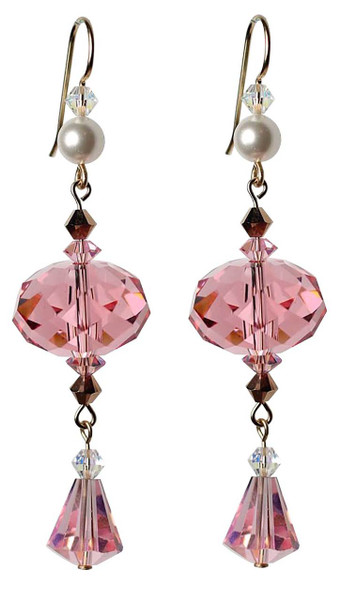 Vintage Swarovski Pink Crystal Earrings