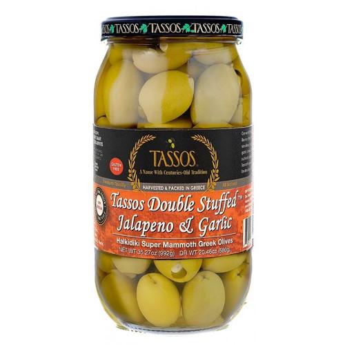 Tassos® Garlic & Jalapeno Stuffed Olives