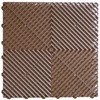 """Ribtrax Pro STANDARD """"Chocolate Brown"""" Tiles (6-Pack) SALE PRICE ONLY $4.20 PER SQ FT - Size: 15 3/4"""" x 15 3/4"""" (1 Tile = 1.72 sq ft)"""