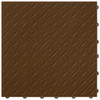 """Chocolate Brown DiamondTrax - SALE PRICE ONLY $3.96 PER SQ FT Tile Size: 15.75"""" x 15.75"""" x .75 (1 Tile = 1.72 sq ft)"""