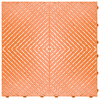 """Tropical Orange"" RibTrax (RT) Smooth by SwissTrax - SALE PRICE ONLY $3.96 PER SQ FT Tile Size: 15.75"" x 15.75"" x .75 (1 Tile = 1.72 sq ft)"