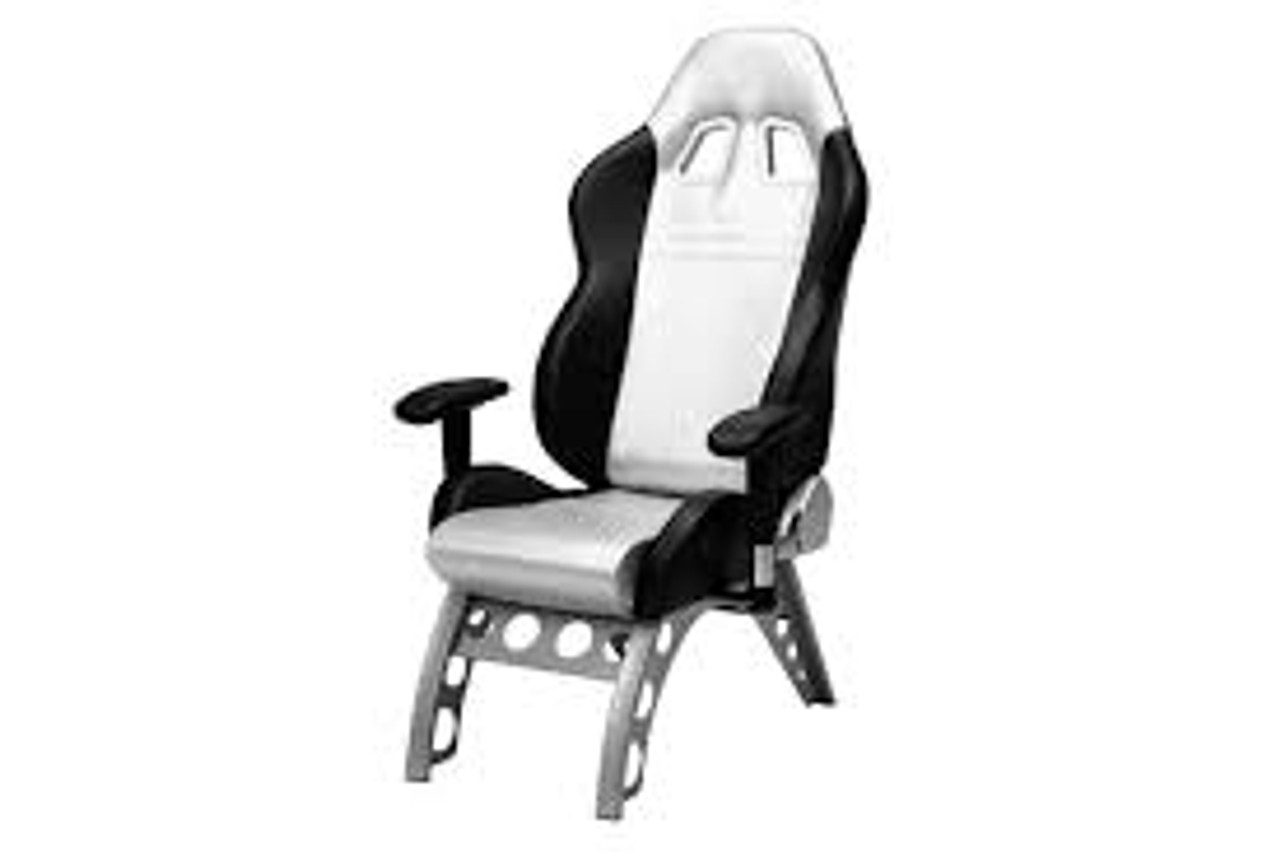 Intro-Tech Automotive PitStop GT Receiver Series Chair in Silver (GT4000S)