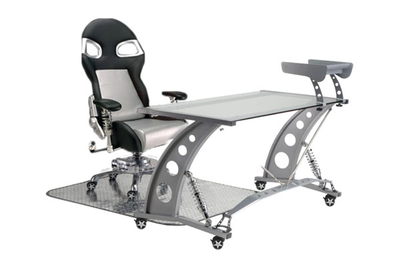 PitStop Formula One Clear Desk Set