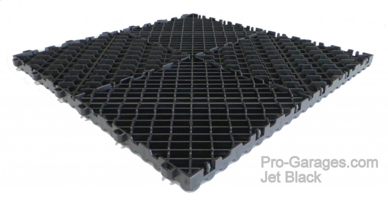 "Ribtrax ""Jet Black"" SALE PRICE ONLY $3.96 PER SQ FT Tile Size: 15 3/4"" x 15 3/4"" (1 Tile = 1.72 sq ft)"