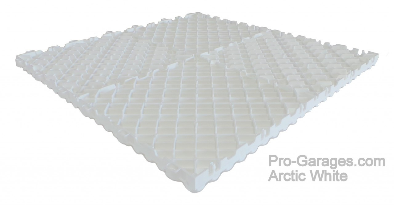 """Ribtrax Pro STANDARD """"Arctic White"""" Tiles (6-Pack) SALE PRICE ONLY $4.20 PER SQ FT Tile Size: 15 3/4"""" x 15 3/4"""" (1 Tile = 1.72 sq ft)"""