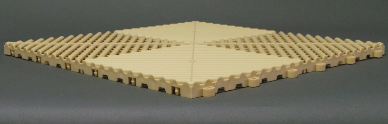 "Ribtrax Pro STANDARD ""Mocha Java"" Tiles (6-Pack) SALE PRICE ONLY $4.20 PER SQ FT Tile Size: 15 3/4"" x 15 3/4"" (1 Tile = 1.72 sq ft)"