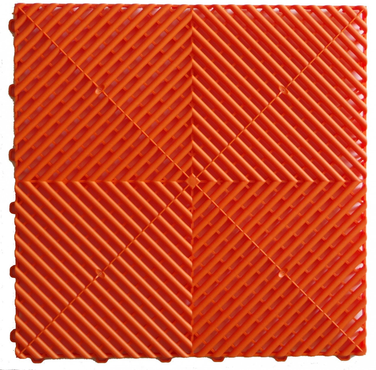 "Ribtrax ""Tropical Orange"" SALE PRICE ONLY $3.96 PER SQ FT - Tile Size: 15 3/4"" x 15 3/4"" (1 Tile = 1.72 sq ft)"