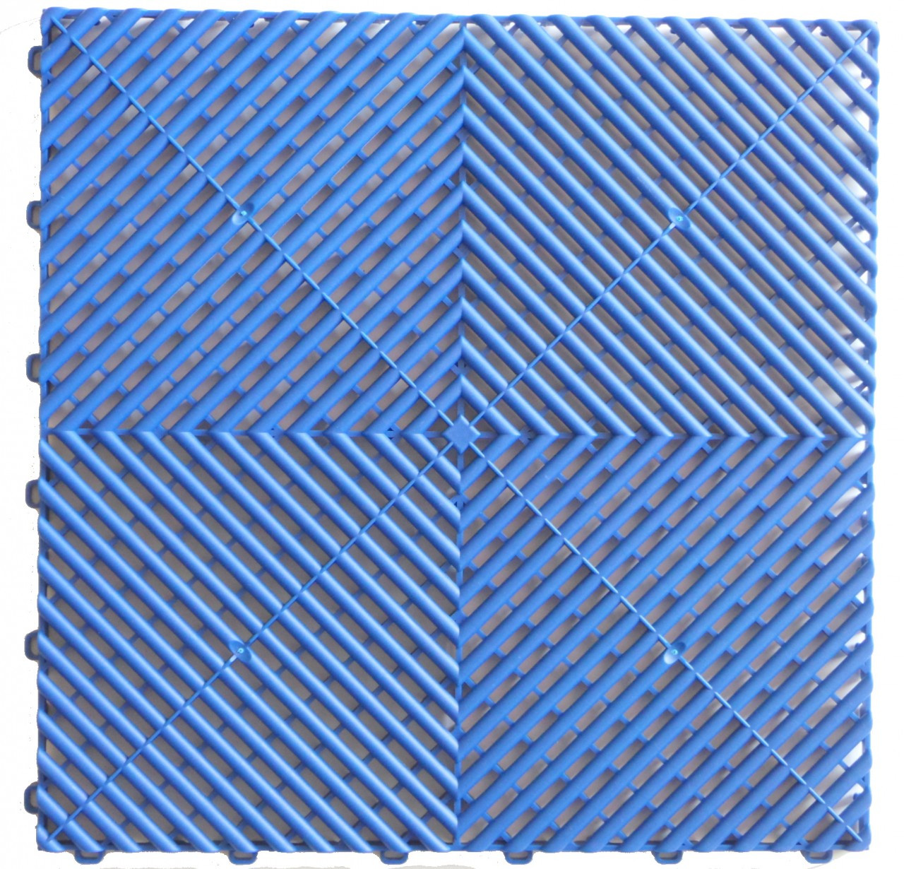 "Ribtrax ""Royal Blue"" Tile SALE PRICE ONLY $3.96 PER SQ FT - Size: 15 3/4"" x 15 3/4"" (1 Tile = 1.72 sq ft)"