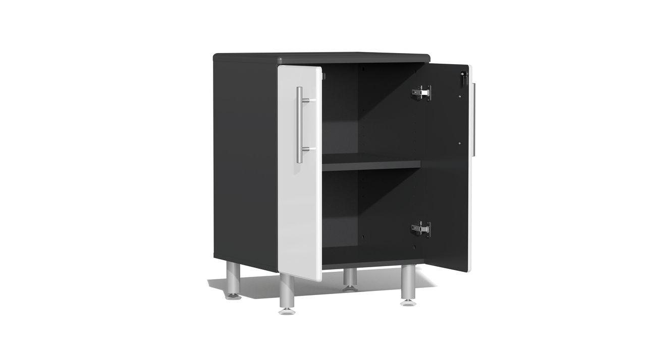 Ulti-MATE Garage 2.0 Series 8-Piece Kit with Bamboo Worktop - White (UG22082W)