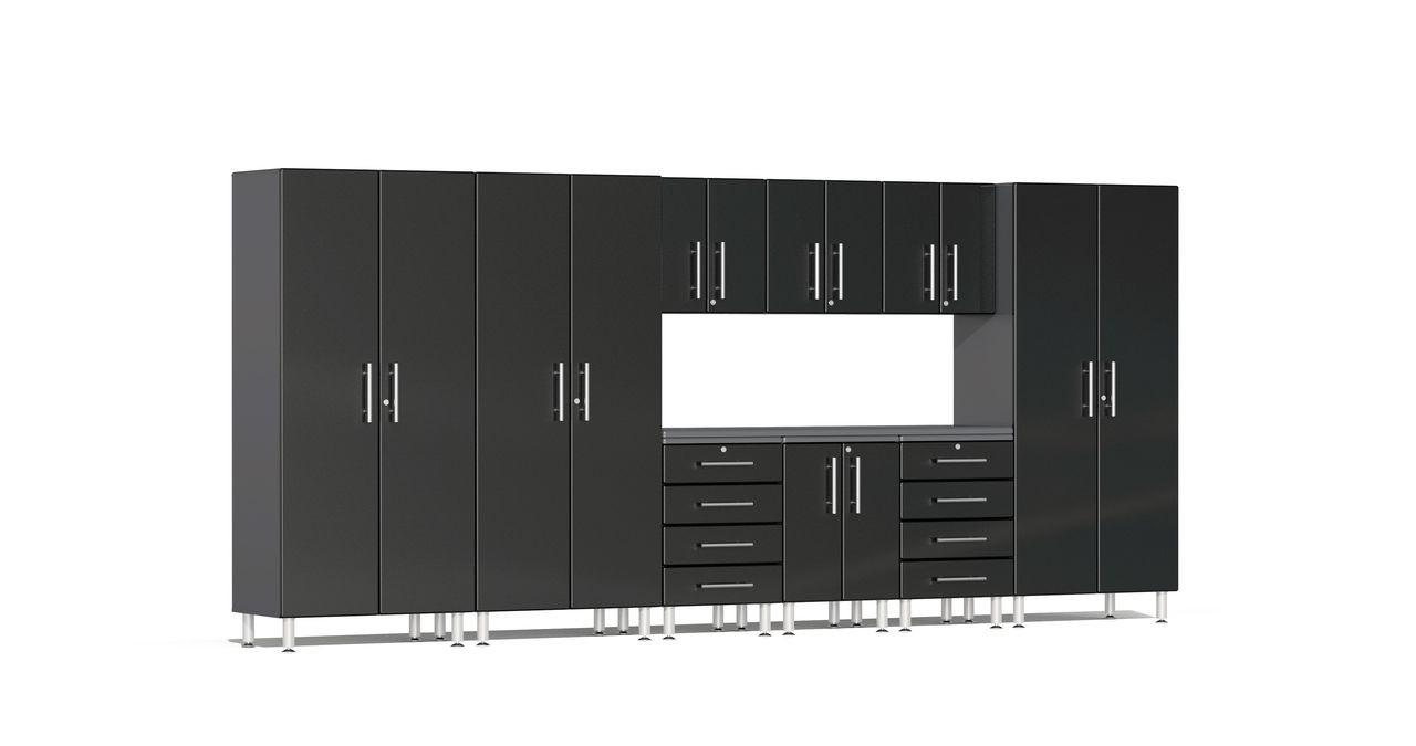 Ulti-MATE Garage 2.0 Series 10-Piece 15' -  Kit with Recessed Worktop - Black (UG23101B)