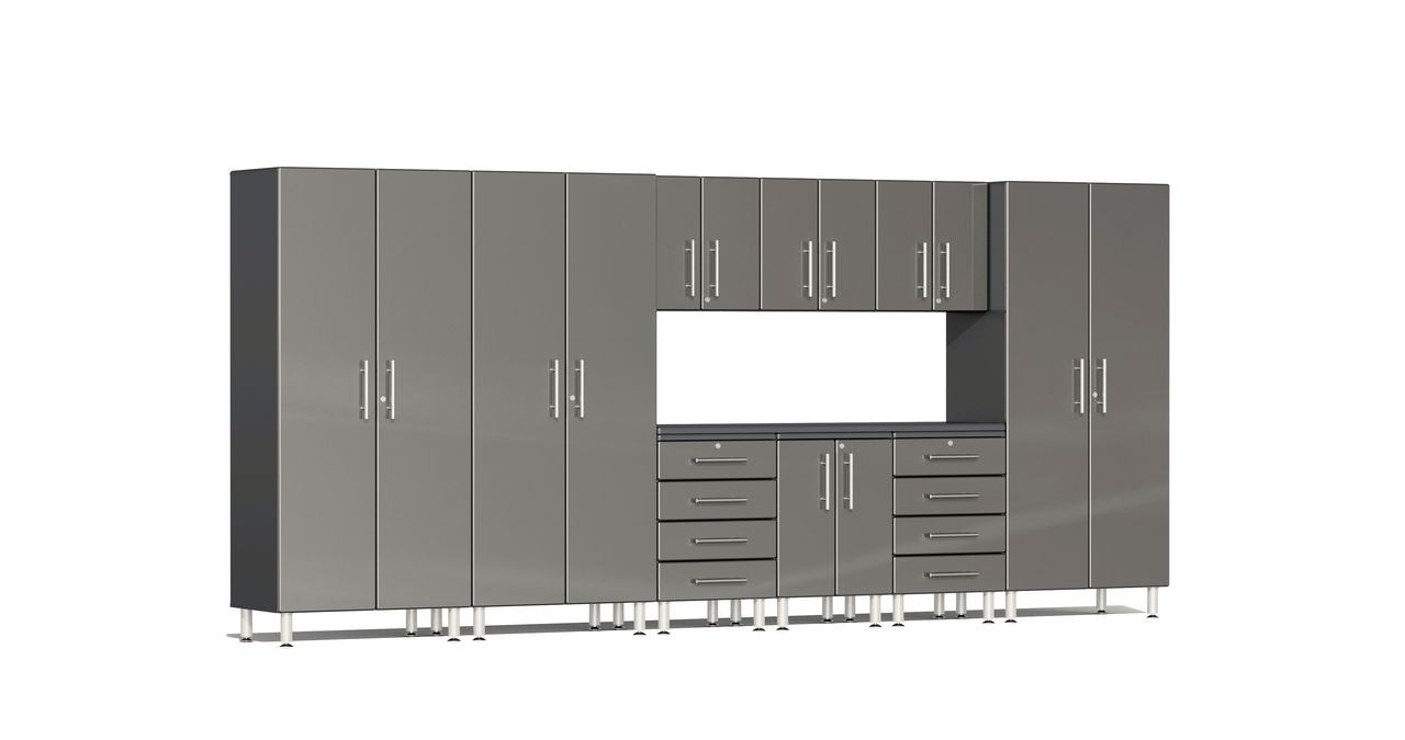 Ulti-MATE Garage 2.0 Series 10-Piece 15' Kit with Recessed Worktop - Grey (UG23101G)