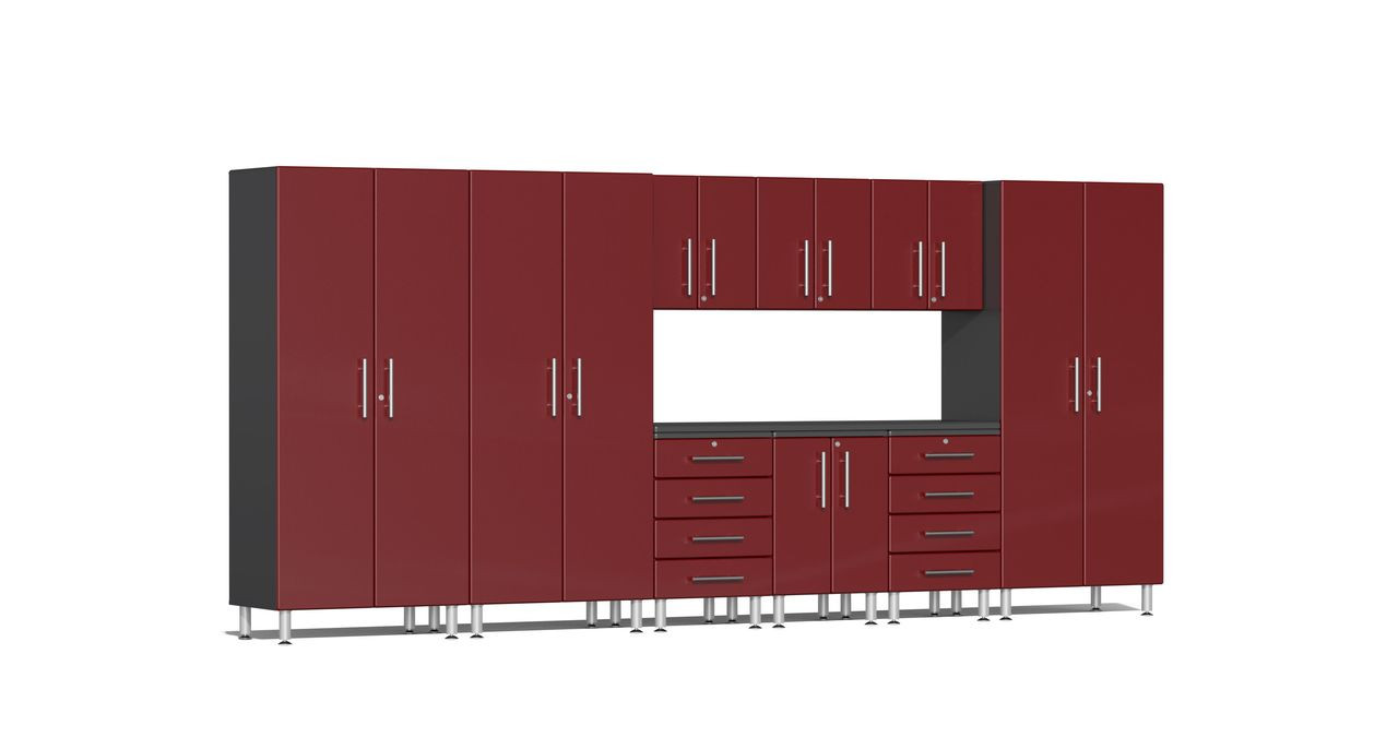 Ulti-MATE Garage 2.0 Series 10-Piece Kit with Recessed Worktop - Red (UG23101R)