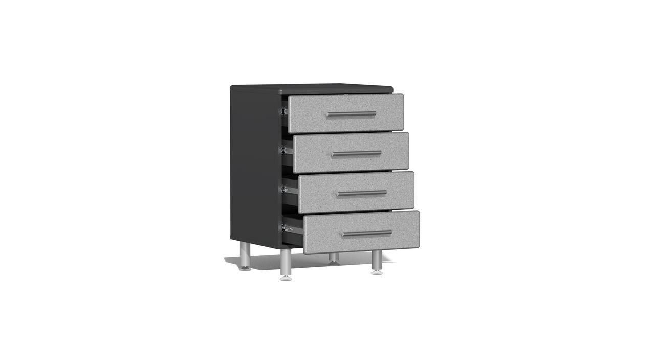 Ulti-MATE Garage 2.0 Series 10-Piece Kit with Bamboo Worktop Upgrade- Silver (UG23102S)