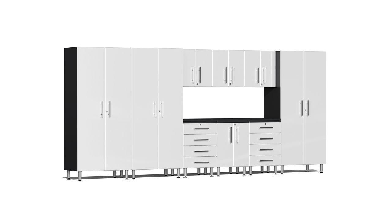 Ulti-MATE Garage 2.0 Series 10-Piece 15' Kit with Recessed Worktop - White (UG23101W)