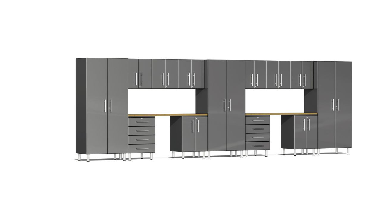 Ulti-MATE Garage 2.0 Series 10-Piece Kit with Recessed Worktop - Grey (UG22152G)
