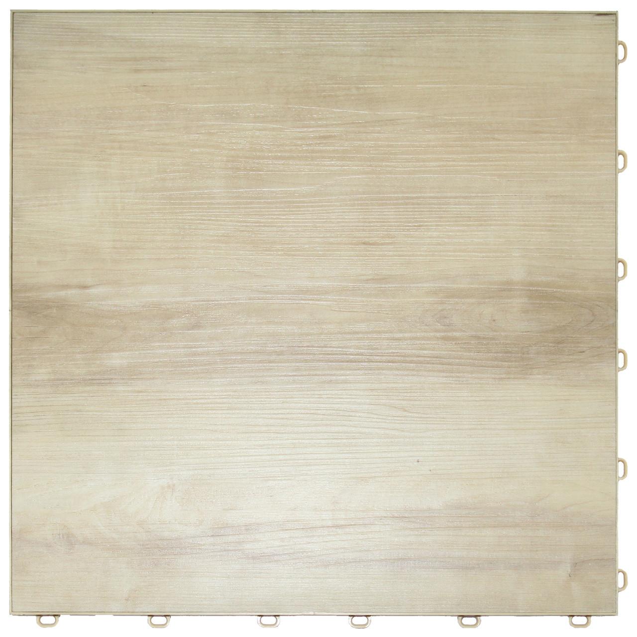 """Light Maple Vinyltrax Garage Floor Tile - """"Only $6.36 Per S/F"""" (Tile Size: 15 3/4"""" x 15 3/4"""")"""