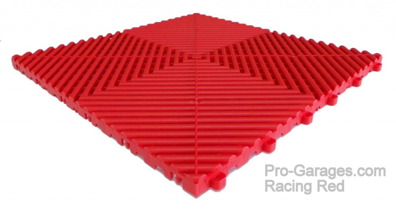 Dodge Car Pads by SwissTrax (RibTrax) - Blk / Red