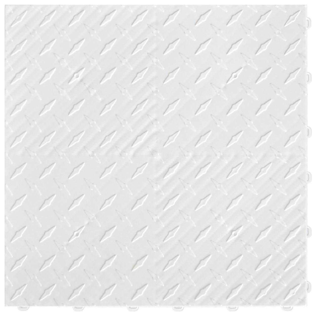 "Arctic White DiamondTrax - SALE PRICE ONLY $3.96 PER SQ FT Tile Size: 15.75"" x 15.75"" x .75 (1 Tile = 1.72 sq ft)"