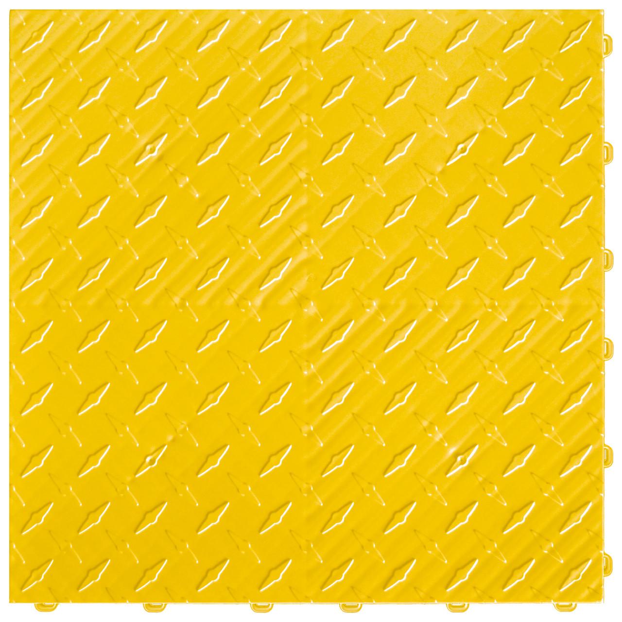 "Citrus Yellow DiamondTrax - SALE PRICE ONLY $3.96 PER SQ FT Tile Size: 15.75"" x 15.75"" x .75 (1 Tile = 1.72 sq ft)"