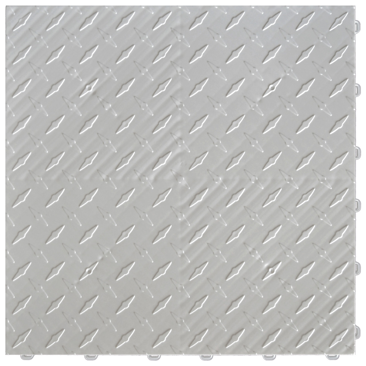 "Pearl Silver DiamondTrax - SALE PRICE ONLY $3.96 PER SQ FT Tile Size: 15.75"" x 15.75"" x .75 (1 Tile = 1.72 sq ft)"
