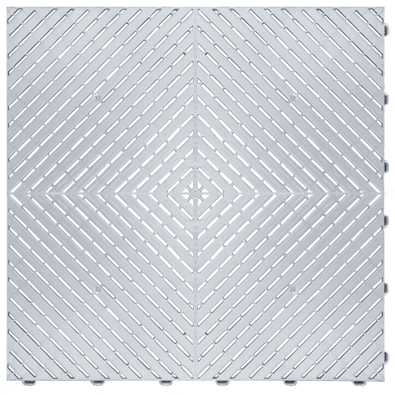 """""""Pearl Silver"""" RibTrax (RT) Smooth by SwissTrax - SALE PRICE ONLY $3.96 PER SQ FT Tile Size: 15.75"""" x 15.75"""" x .75 (1 Tile = 1.72 sq ft)"""