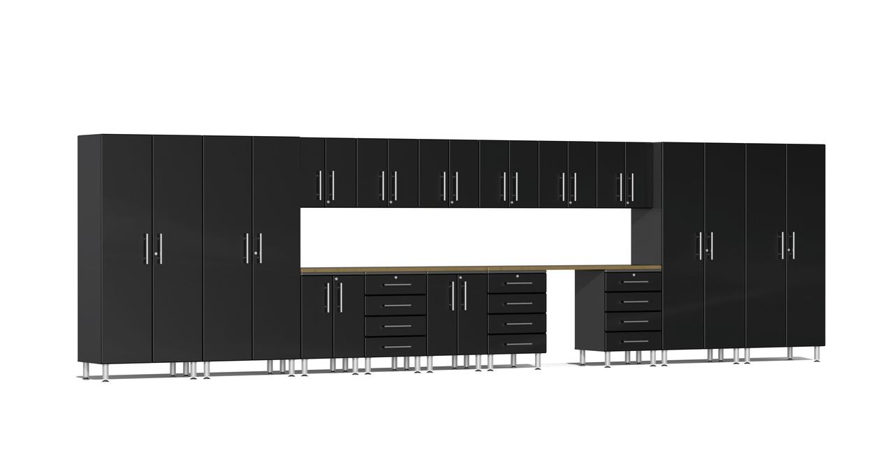 Ulti-MATE Garage 2.0 Series 17-Piece 24' Super-System - Black (UG22172B)