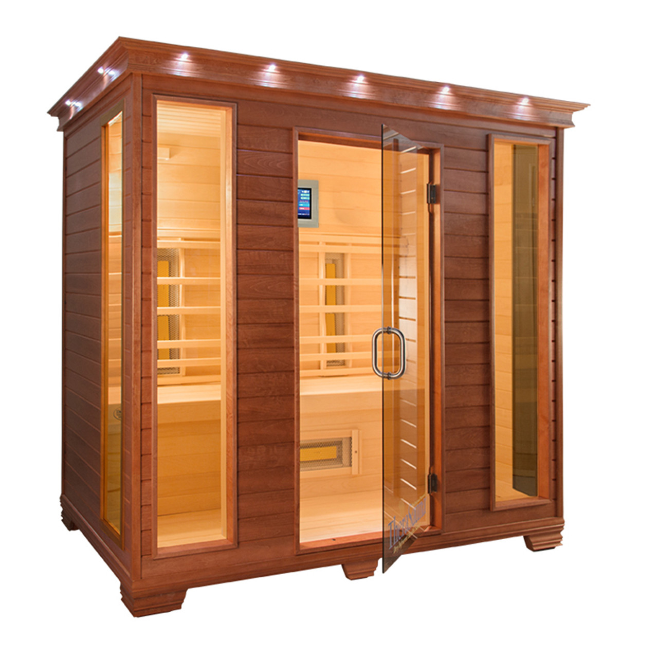 TheraSauna TS8454 Far Infrared Sauna (Pictured in Mahogany Finish)