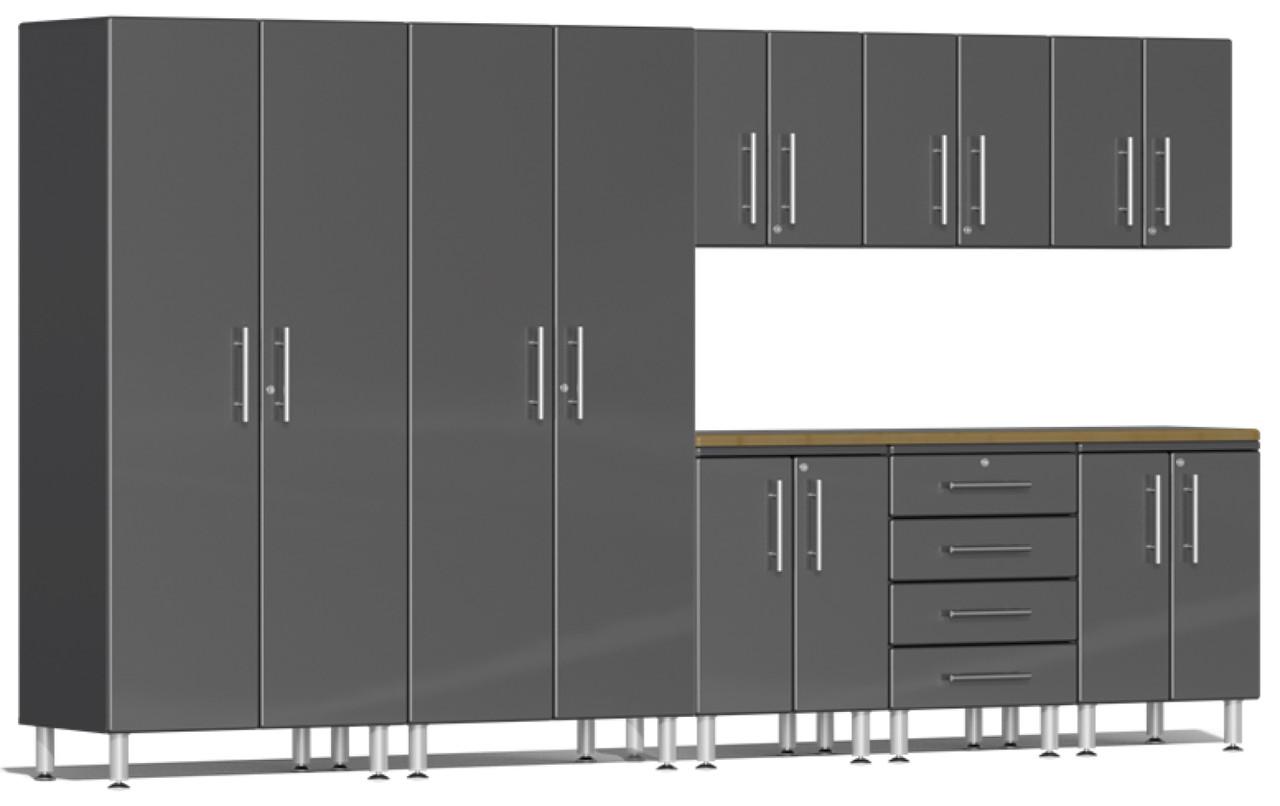 Ulti-MATE Garage 2.0 Series 12' - 9-Piece Kit with Worktop (UG25092G)