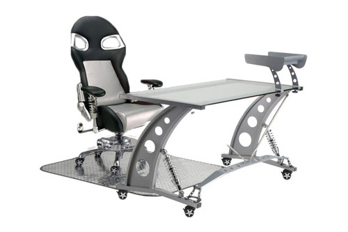 PitStop Formula One Clear Desk Set